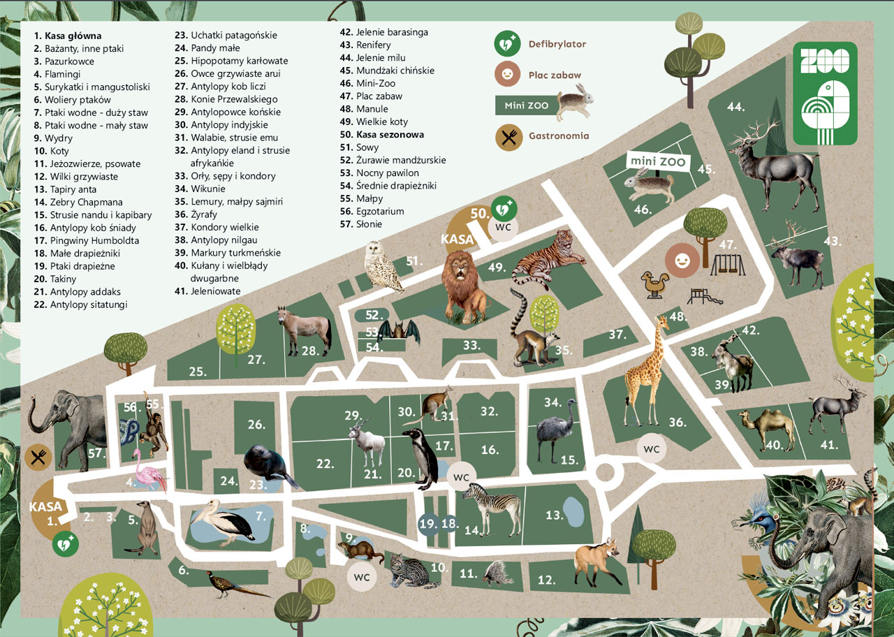 Mapa Zoo