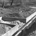 Budowa stawu dla ptactwa, lata 70-te